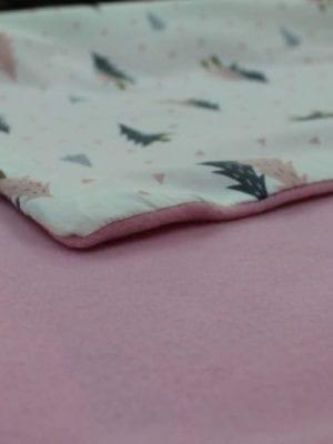 שמיכה לתינוק פתוח ורוד